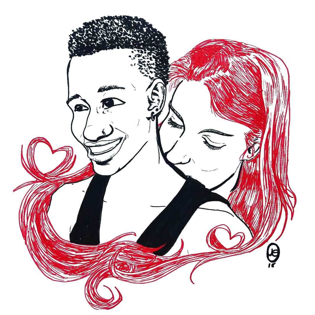 Vibrant couple
